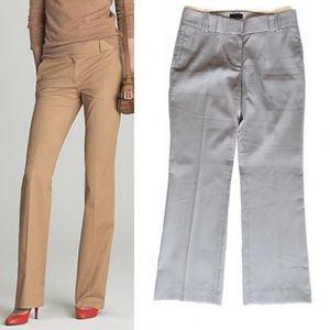 J. CREW City Fit Trousers Career Pants Sz 8 Taupe